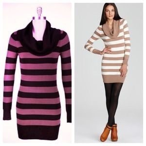 French Connection Cowl Neck Sweater Dress