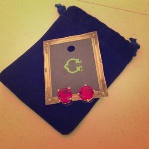 C.Wonder ruby colored stud earrings
