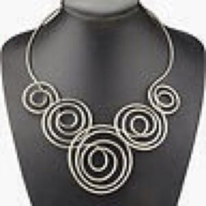 ⭕️LAST ONE Silver Swirls Collar Necklace