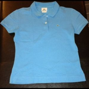 Authentic Lacoste Short Sleeve 2 Button Stretch