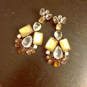 REDUCED: J.crew jeweled earrings for pierced ears
