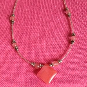 Jewelry - Adorable pink tones beaded necklace. Brand New.16""
