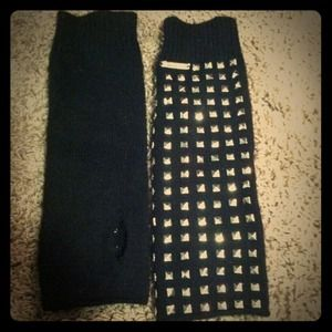 Michael Kors studded ArmWarmers/ fingerless gloves