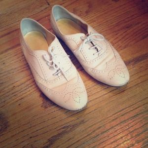 Pale pink/nude j.crew oxfords