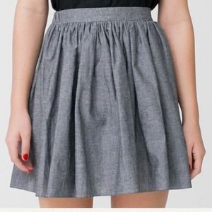 American Apparel Dresses & Skirts - ❌SOLD❌ Chambray Full Woven Skirt