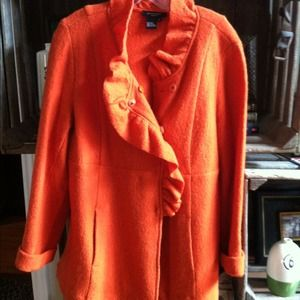 Jackets & Blazers - Gorgeous Pumpkin Wool Jacket Sz L reserved