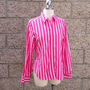 Ralph Lauren Hot Pink Pinstripe Shirt