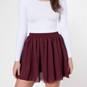 American Apparel Dresses & Skirts - American Apparel Chiffon Double-Layered Skirt