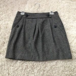 Banana Republic Black Houndstooth Wool Skirt 2!