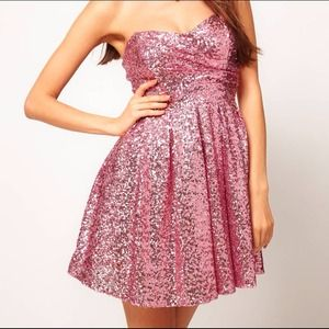 Brand new TFNC sequined dress - Pink