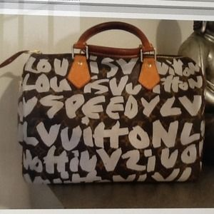 5a619d12410d Louis Vuitton Bags - Louis Vuitton Graffiti Speedy Monogram Handbag