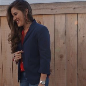 Lauren Conrad Navy Blue Open Blazer 8!
