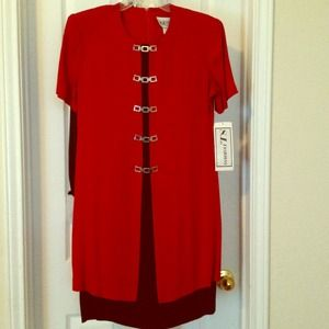 S. L. Fashions Dresses & Skirts - Red dress.