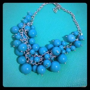 Aqua blue statement necklace!!