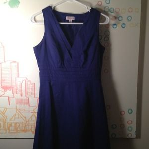 Deep blue/purple A-line dress