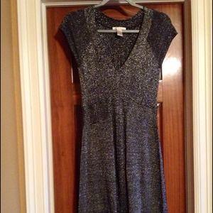 Kenar fitted little black sparkling dress
