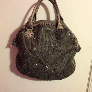 Alligator studded purse!