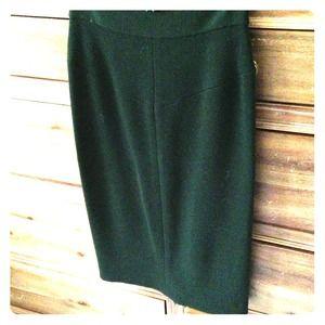 Diane von Furstenburg Hunter Green Pencil Skirt