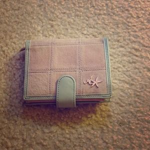 Animal Clutches & Wallets - Pink suede and grey wallet