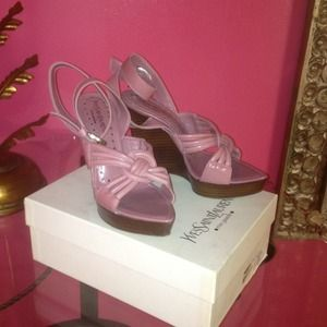 Yves Saint Laurent Shoes - Italian Leather Ankle Strap Platform