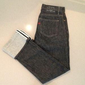 Guess low rise cuffed denim jeans