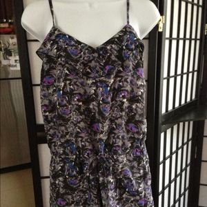 NWOT Flower purple romper