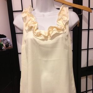 Brand new Ivory  color flowy top
