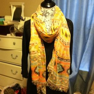 Bundle tribal print scarf and jcrew spring print