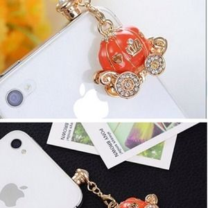 Pumpkin Dust Plug- Earphone Jack Accessories