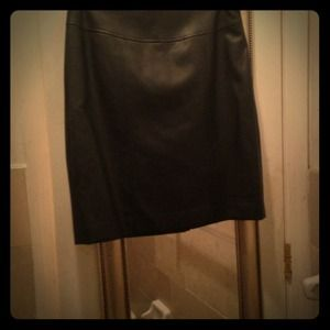 Soft black leather skirt