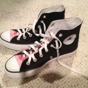 ... 511946 black pink trainers converse shop 3d6d6 33de8 uk converse shoes  pink and black high top converse all stars aebb9 de134 ... 0cea232ab