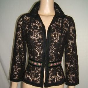 ❗Reduced❗Nanette lepore size 8 lace flower jacket