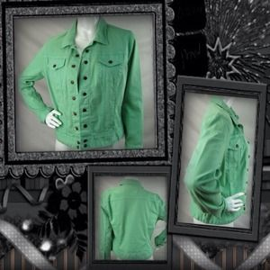 Jackets & Blazers - Mint green Lucky Brand denim jean jacket.