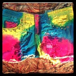 Customized jean shorts