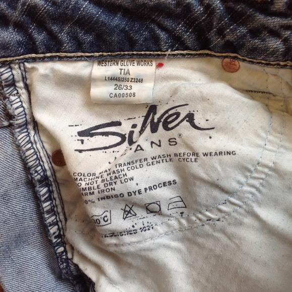 81% off Silver Jeans Denim - Silver Jeans Tia Western Glove Works ...