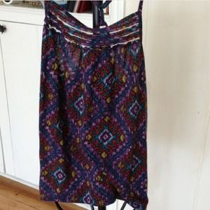 Exhilaration Tops - Tank top purple print with t back