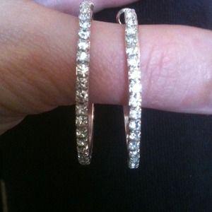 Jewelry - Rhinestone Loop Earrings
