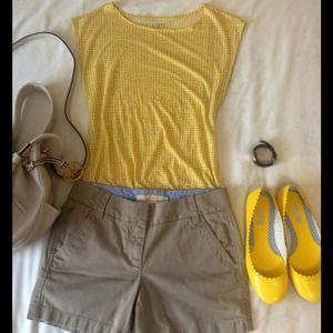 JCREW Khaki Chino Broken-in Shorts Size 00