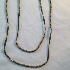 Urban Outfitters Necklace with Gold Beads