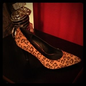 Dana Buchman leopard heels.