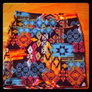 Tribal print highwaist skirt