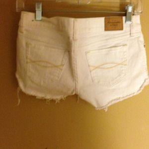 Abercrombie and Fitch White Denim Shorts