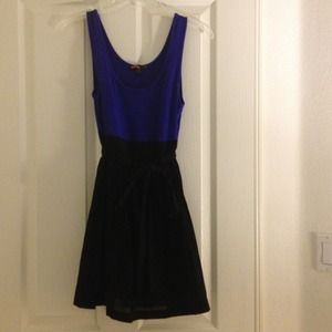 Forever 21 Dresses & Skirts - French blue and black dress