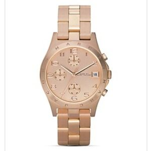 "Marc by Marc Jacobs Rose gold ""Henry"" watch"