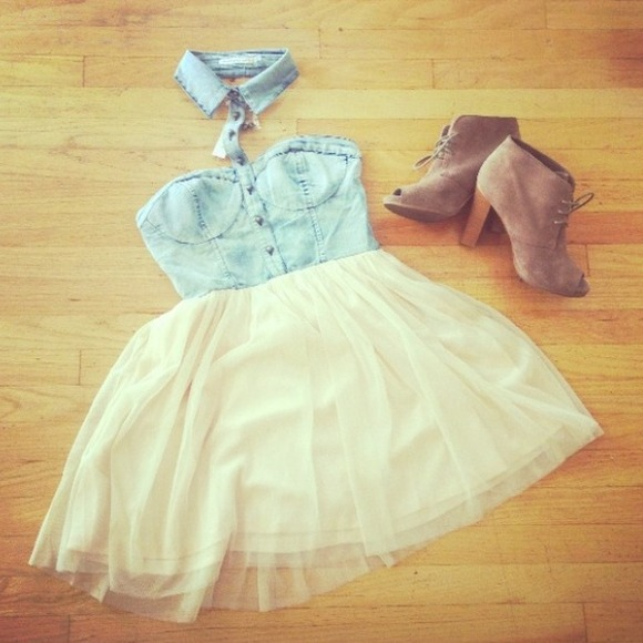 Denim and Tulle Dress