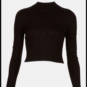 KEEPING-Topshop mock neck crop top