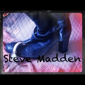 CLOSING SALE Steve Madden Blue Ankle Boots