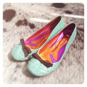 Irregular Choice Turquoise Kitten Heel