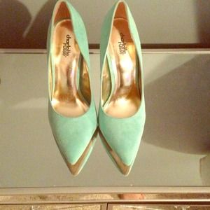 Charlotte Russe Shoes - Mint color pointy toe heels!