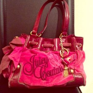 Juicy Couture Pink Velour Day Dreamer Tote